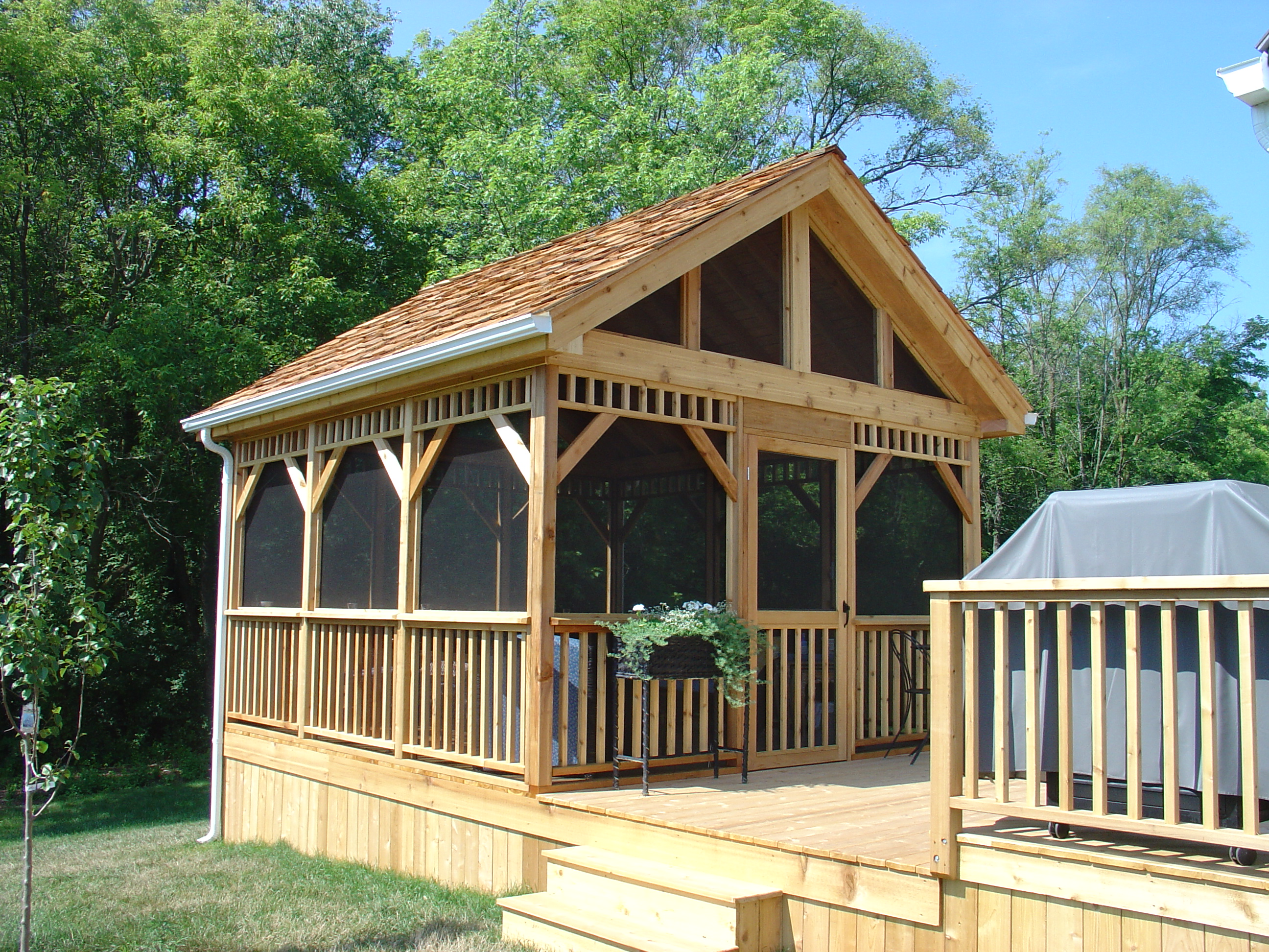 Gazebo screened room builders illinois hoffman estates for Screen room plans