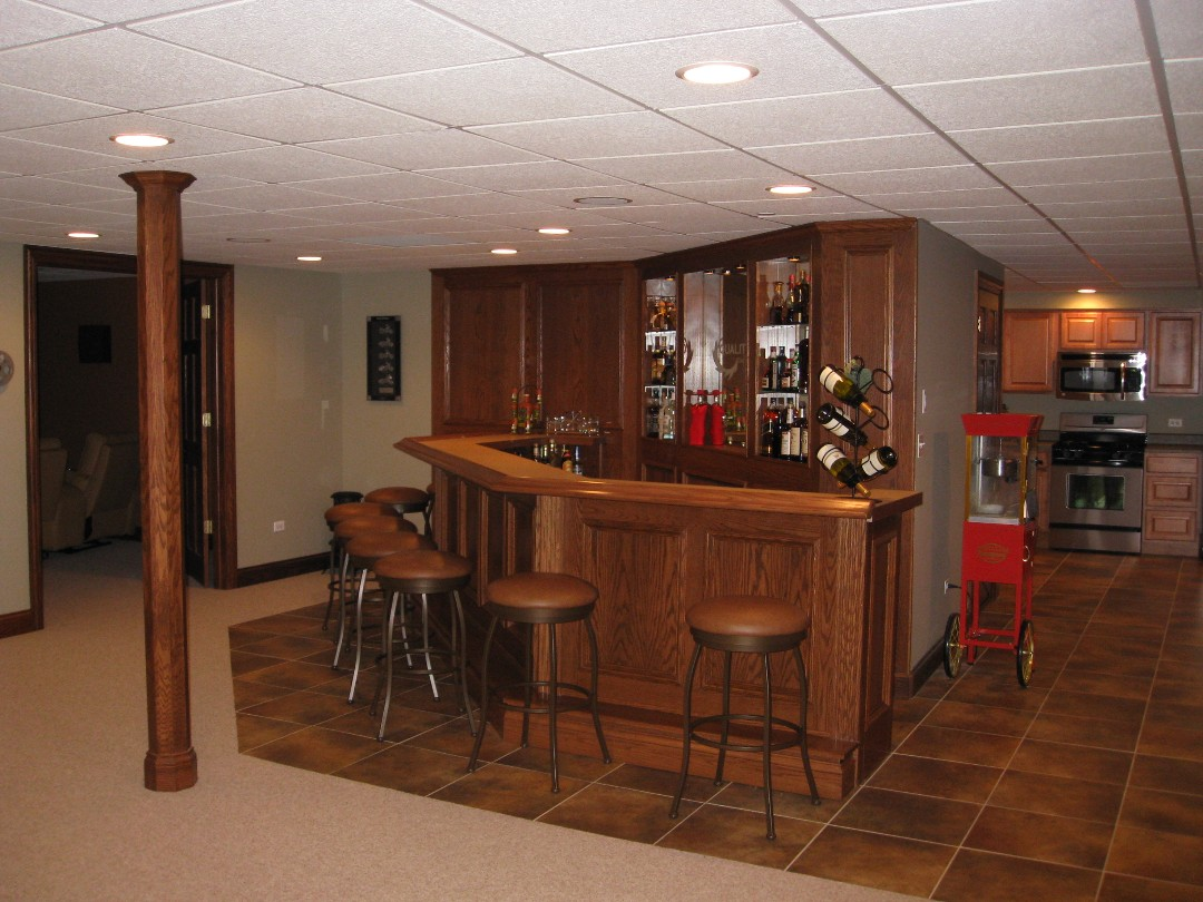 finished basements basement remodeling illinois, outback builders