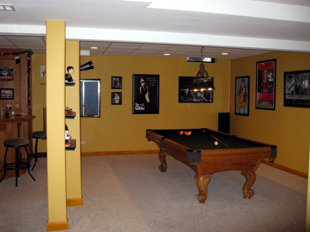Basement remodeling ideas finished basement plans - Finish basement design ...