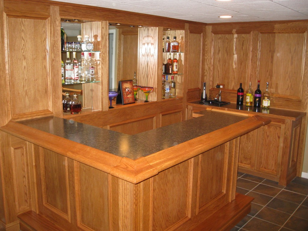 custom built bars and finished basements basement remodeling illinois
